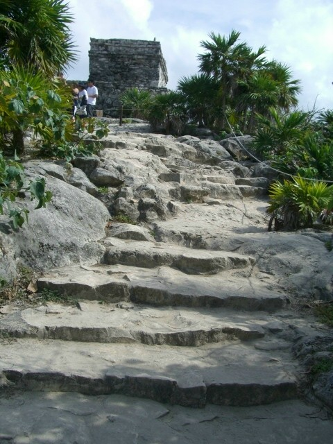 Carved Stone Steps : Cozemel and tulum